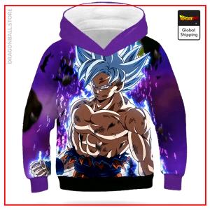 DBZ Kids Sweatshirt Goku Ultra Instinct Army Green / 12 YEARS Official Dragon Ball Z Merch