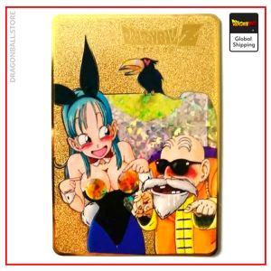 Dragon Ball Z Card Bulma & Master Roshi Default Title Official Dragon Ball Z Merch