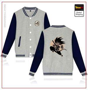 Teddy Dragon Ball Z Jacket Goku Small (Blue & Grey) gray and navy bule / S Official Dragon Ball Z Merch