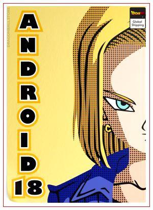 Dragon Ball Z Poster C-18 (Flat Design) 35 x 50 cm / 17 Official Dragon Ball Z Merch