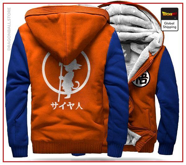 DBZ Fleece Jacket Orange & Blue Orange & blue / S Official Dragon Ball Z Merch