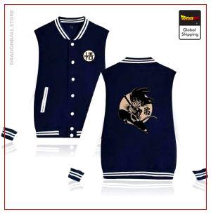 Teddy Dragon Ball Z Jacket Goku Small (White & Blue) navy bule and white / S Official Dragon Ball Z Merch