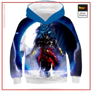 DBZ Kids Sweatshirt Broly SSJ Blue Silver / 11 YEARS OLD Official Dragon Ball Z Merch