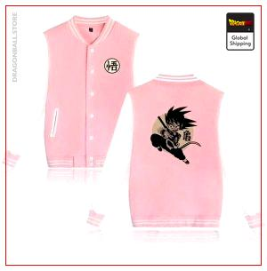 Teddy Jacket Dragon Ball Z Goku Small ( Pink & White) pink and white / S Official Dragon Ball Z Merch