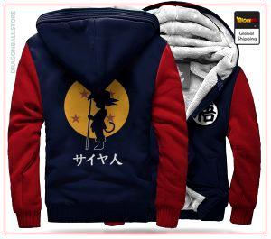 DBZ Fleece Jacket Goku Small (Blue & Red) C / S Official Dragon Ball Z Merch
