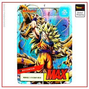 Dragon Ball Z Card Shenron & Goku SSJ3 Version 1 Official Dragon Ball Z Merch