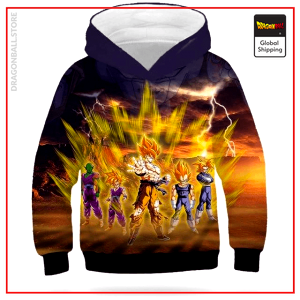 DBZ Kids Sweatshirt Saiyan Rage picture color 8 / 4 YEARS Official Dragon Ball Z Merch