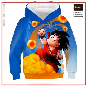 DBZ Kids Sweatshirt Goku Magic Cloud Sky Blue / 4 YEARS Official Dragon Ball Z Merch