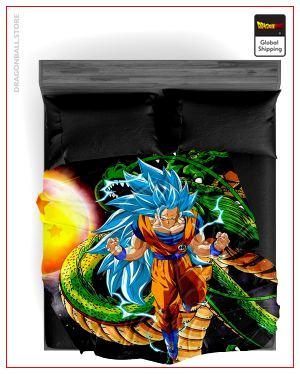 Dragon Ball Z Blanket Goku Blue SSJ3 Fanart 37 / 150X200cm Official Dragon Ball Z Merch