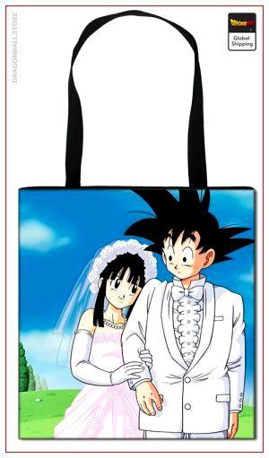 Dragon Ball Tote Bag Goku & Chichi Default Title Official Dragon Ball Z Merch