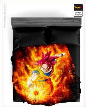 Dragon Ball Z Blanket Sangoku SSJ God 9 / 150X200cm Official Dragon Ball Z Merch