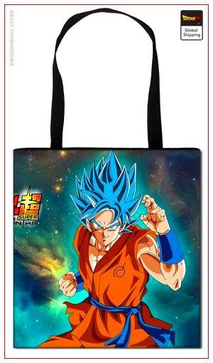 Tote Bag Dragon Ball Goku SSJ Blue Default Title Official Dragon Ball Z Merch