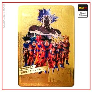 Dragon Ball Z Card Goku Transformations Default Title Official Dragon Ball Z Merch
