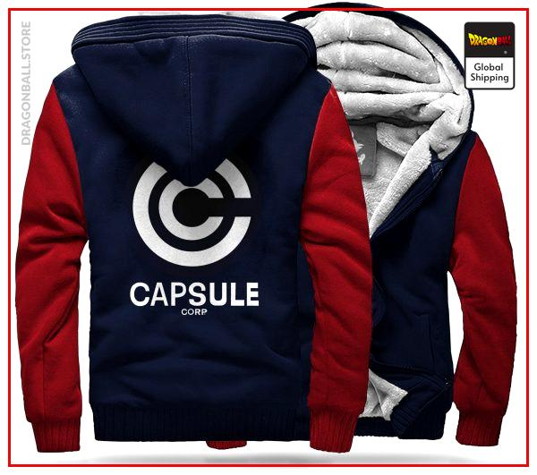 DBZ Fleece Jacket  Capsule C. (Blue & Red) M Official Dragon Ball Z Merch