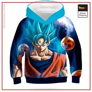 DBZ Kids Sweatshirt Goku Blue 13 - 14 YEARS Official Dragon Ball Z Merch