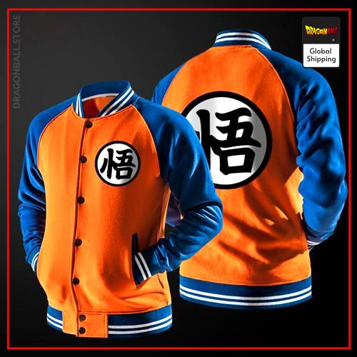 Teddy Dragon Ball Z Jacket Kanji Go (Orange & Blue) M Official Dragon Ball Z Merch