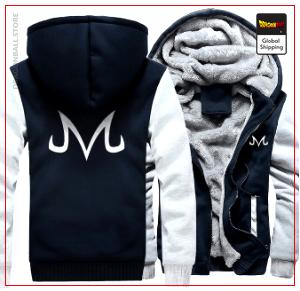 DBZ Fleece Jacket Blue & White M Official Dragon Ball Z Merch
