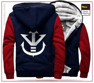 DBZ Fleece Jacket  Royal Family (Blue & Red) S Official Dragon Ball Z Merch