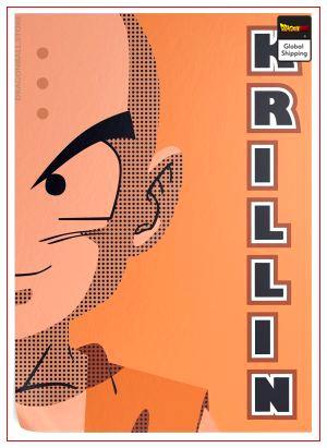 Dragon Ball Z Poster Krilin (Flat Design) 35 x 50 cm / 12 Official Dragon Ball Z Merch
