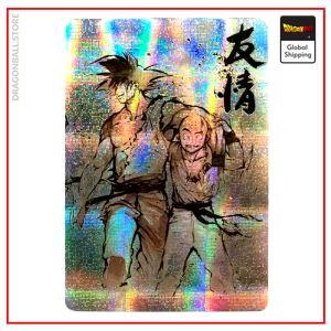 Dragon Ball Z Card Goku & Krilin Version 1 Official Dragon Ball Z Merch