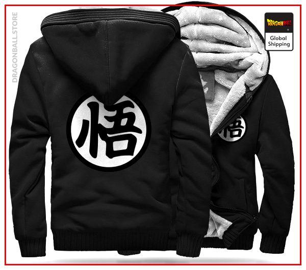 "DBZ Fleece Jacket Kanji ""Go"" (Black) BLACK / M Official Dragon Ball Z Merch"