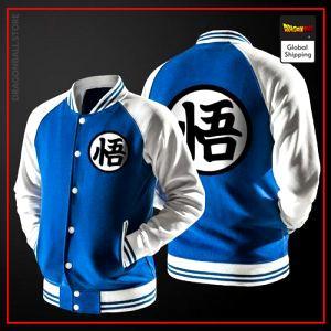 Teddy Dragon Ball Z Jacket Kanji Go (Blue & White) S Official Dragon Ball Z Merch