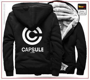 DBZ Fleece Jacket Capsule Corp (Black) M Official Dragon Ball Z Merch