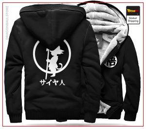 DBZ Fleece Jacket Goku Small (Black & White) BLACK / S Official Dragon Ball Z Merch