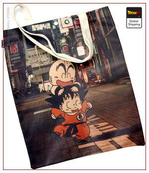 Dragon Ball Tote Bag Krilin & Goku Default Title Official Dragon Ball Z Merch