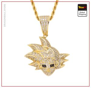 Dragon Ball Z Goku Silver Necklace Gold plated Official Dragon Ball Z Merch