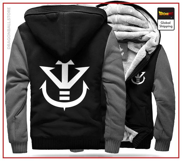 DBZ Fleece Jacket Royal Family (Black & Grey) S Official Dragon Ball Z Merch