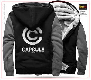 DBZ Fleece Jacket Capsule Corp (Black & Grey) M Official Dragon Ball Z Merch