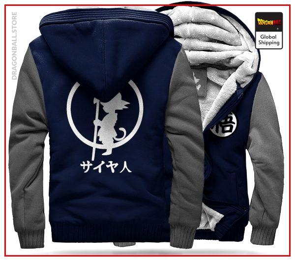 DBZ Fleece Jacket Blue & Grey Blue & Grey / S Official Dragon Ball Z Merch