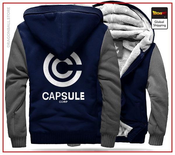 DBZ Fleece Jacket  Capsule C. (Blue & White) M Official Dragon Ball Z Merch
