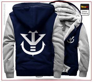 DBZ Fleece Jacket  Royal Family (Blue & White) S Official Dragon Ball Z Merch