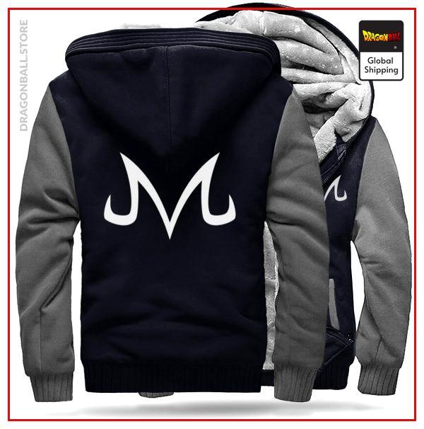DBZ Fleece Jacket Majin Grey BLACK & GREY / M Official Dragon Ball Z Merch