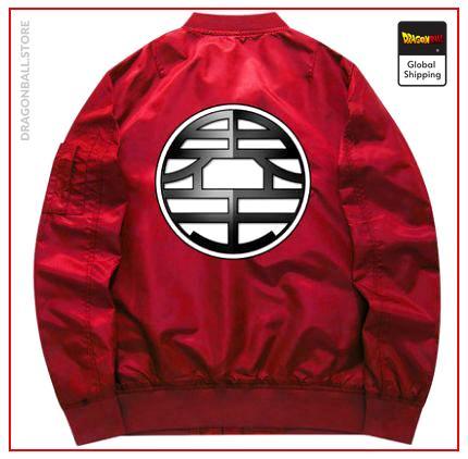"DBZ Bomber Jacket  Kanji ""Kaio"" Fine / S Official Dragon Ball Z Merch"