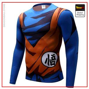 Long Compression T-Shirt  Son Goku XS Official Dragon Ball Z Merch