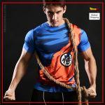 Compression T-Shirt  Goku Combat S Official Dragon Ball Z Merch
