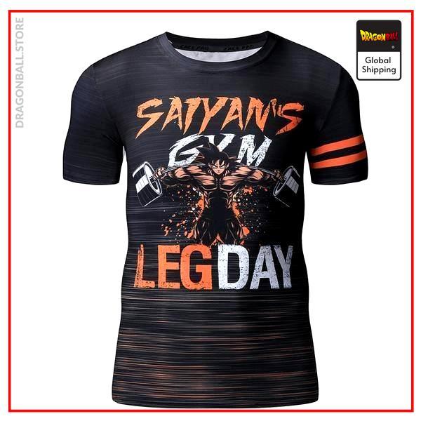 Compression T-Shirt  Goku Leg Day L Official Dragon Ball Z Merch