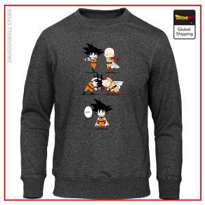 Dragon Ball Z sweater Goku and Saitama Grey / S Official Dragon Ball Z Merch