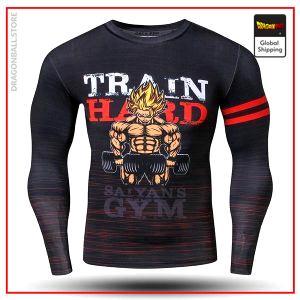 Compression T-Shirt Long  Train Hard S Official Dragon Ball Z Merch
