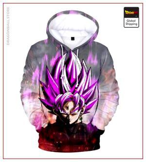 Dragon Ball Super Sweatshirt  Black Goku Pink XXS Official Dragon Ball Z Merch