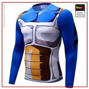 Compression T-Shirt Long  Vegeta 4XL Official Dragon Ball Z Merch