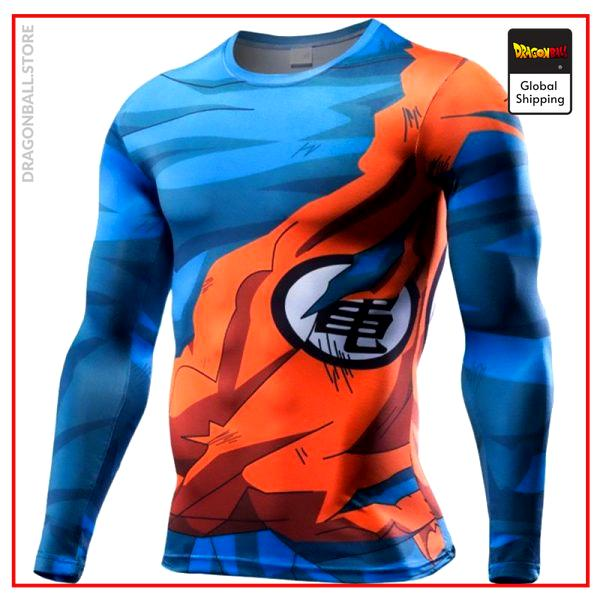 Compression T-Shirt Long  Goku Combat M Official Dragon Ball Z Merch