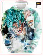 Dragon Ball Sweatshirt  Vegeto Potaras SSJ Blue S Official Dragon Ball Z Merch