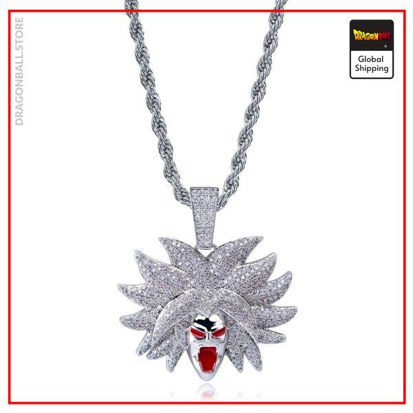Dragon Ball Z Necklace Broly Super Saiyan Gold Version 1 / Diamonds 4mn / 50 CM Official Dragon Ball Z Merch