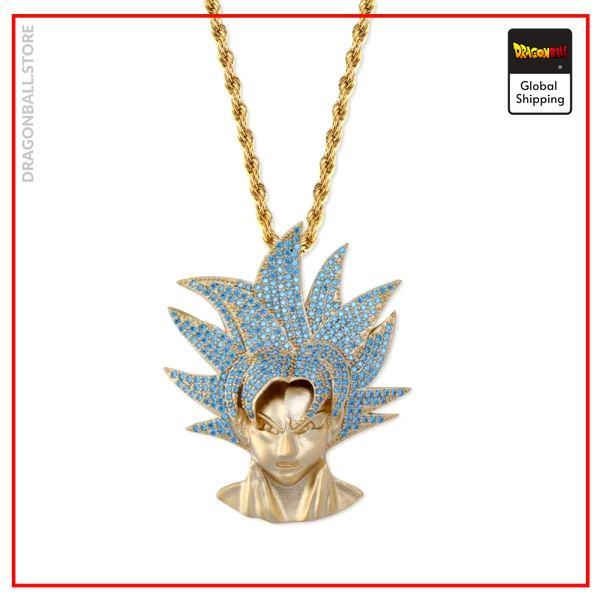Dragon Ball Z Necklace Goku Super Saiyan Silver plated / Large links / 60 CM Official Dragon Ball Z Merch