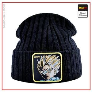 Dragon Ball Z Beanie  Gohan Training Black Official Dragon Ball Z Merch