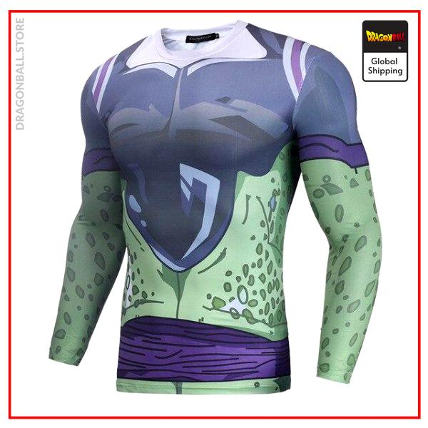 Long Compression T-Shirt Cell Forme Parfaite Cell / S Official Dragon Ball Z Merch